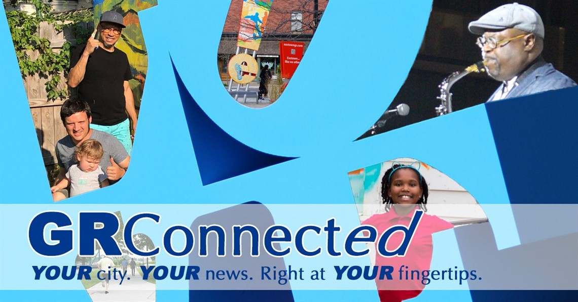 JPEG image of the GR Connect newsletter logo showing the Grand Rapids