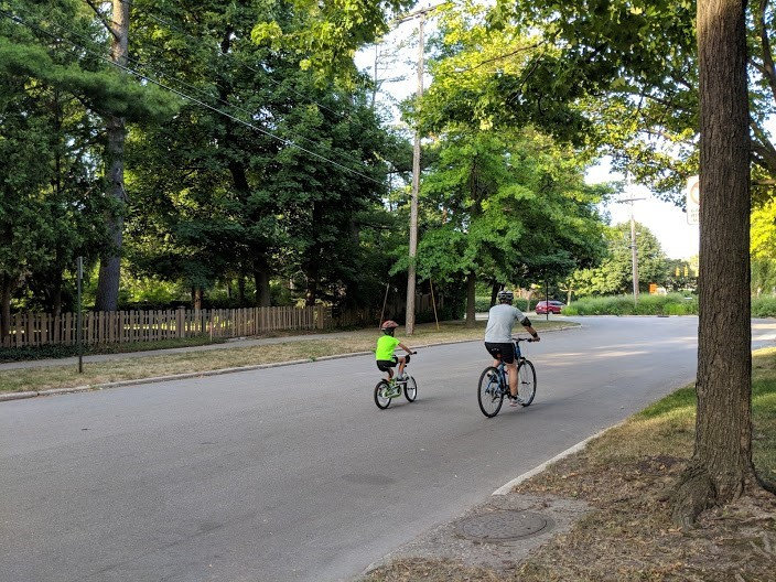 photo of bikers riding in a bike boulevard