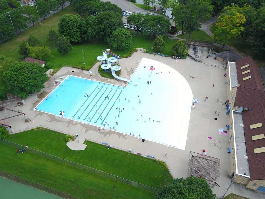 Aerial image of Richmond Park pool