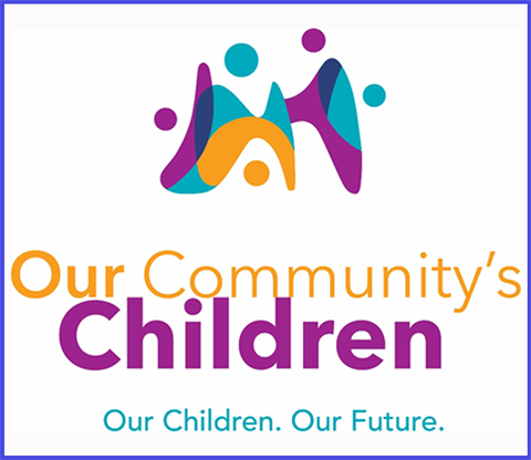 PNG image of the logo for the Our Community's Children partnership between the City of Grand Rapids, Grand Rapids Public Schools, and other organizations