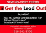 Get the Lead Out! Web Banner/Ad