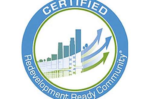 The Certified Redevelopment Ready Community circle logo