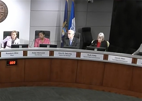 Photograph of empty Commission seat