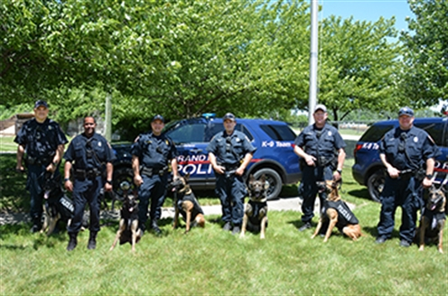 GRPD K9s adorned with new vests