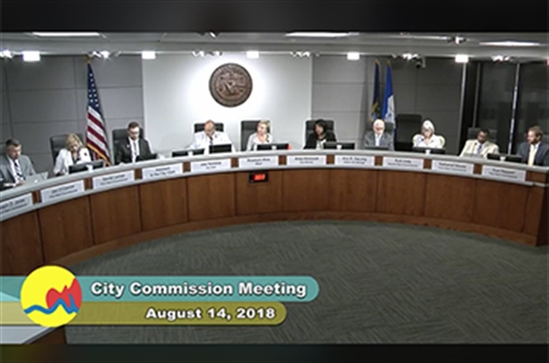 City Commission meeting broadcast of Aug. 14, 2018
