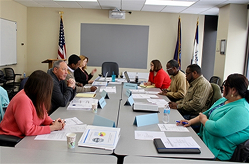 Photo of a Grand Rapids Police Civilian Appeal Board meeting