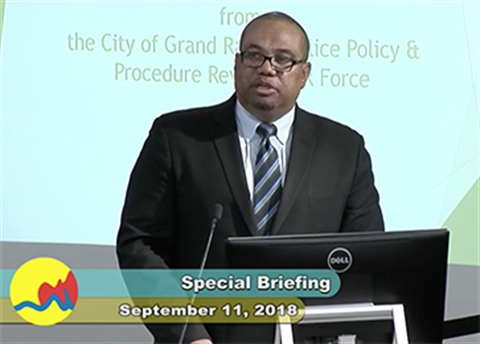 21st Century Policing Principal Ron Davis' 9/11/18 presentation to the Grand Rapids City Commission on the Police Policy and Procedure Review Task Force recommendations
