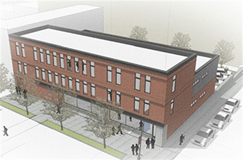 Rendering of a proposed building at 35 and 41 Division Ave. S.