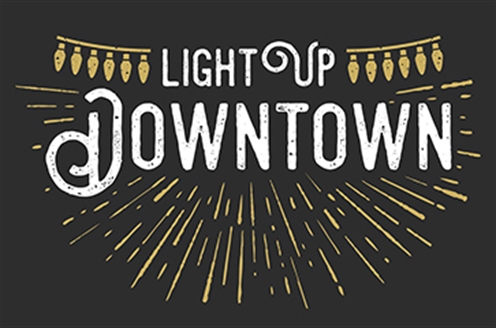 The 2018 Light Up Downtown logo