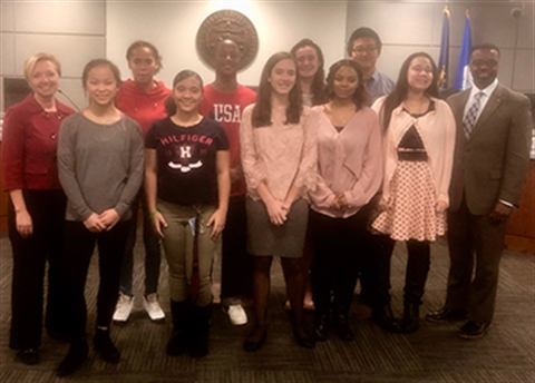CRC Rosa Parks Essay Contest Winners with Mayor Rosalynn Bliss and City Manager Mark Washington