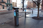 Photograph of a new parking pay station
