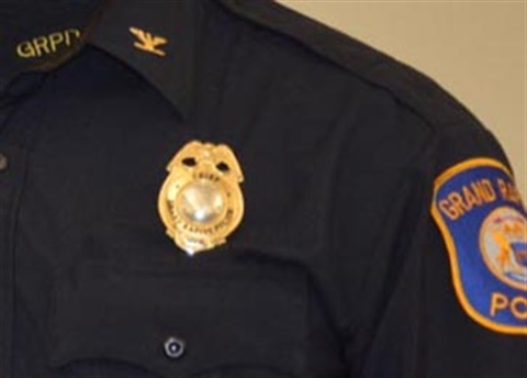 Photograph of a Grand Rapids police chief uniform