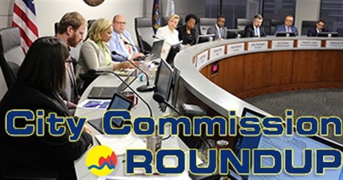 City Commission Roundup photo of the 2020 Grand Rapids City Commission at the dais