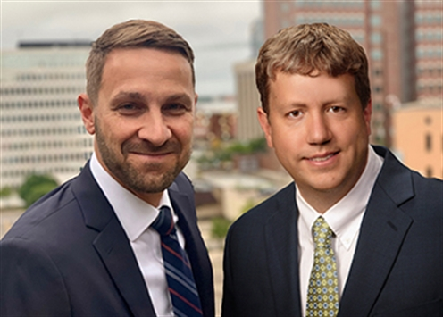 Composite photo of Jono Klooster, acting director of economic development services (L) and Tim Burkman, city engineer (R).