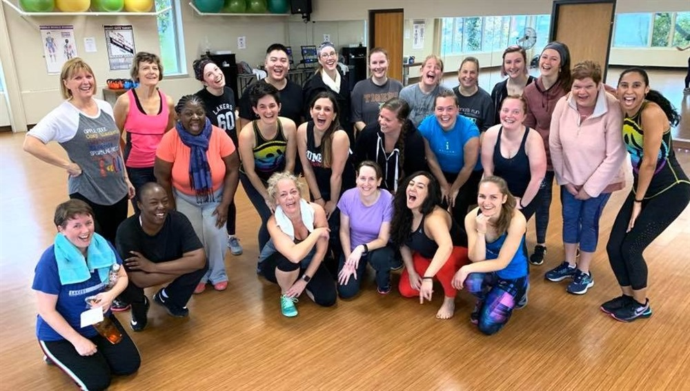 JPEG image of fitness participants after a Zumba workout